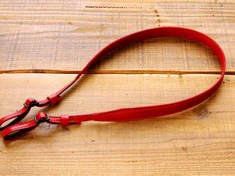 《Horse Leather》スリムカメラストラップ  バーガンディーの画像