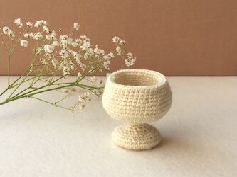 knit glass / ホワイトの画像