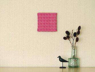手織りミニファブリックパネル ピンクBの画像