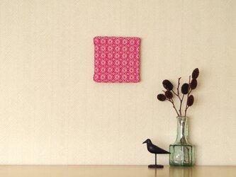 手織りミニファブリックパネル ピンクAの画像