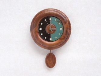 陶板の文字盤の振子時計 その4の画像