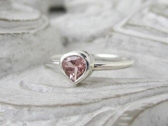 ピンクトルマリン(マロン型)・リング(silver)(売約済)の画像