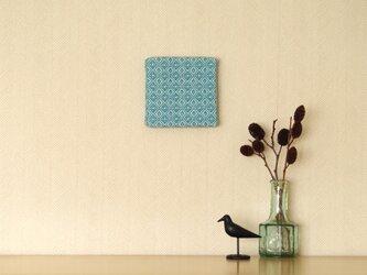 手織りミニファブリックパネル ブルーBの画像