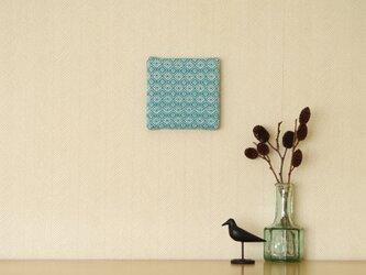 手織りミニファブリックパネル ブルーAの画像