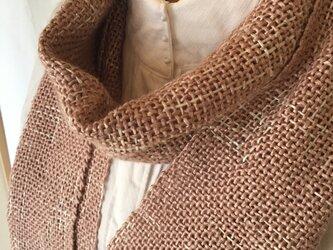 草木染め 織ストール カリンの画像