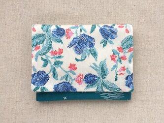 【送料無料】ポケットティッシュケース リバティプリント クロスステッチ花の画像