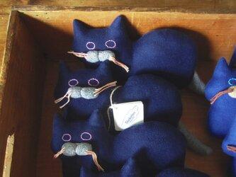 """ Stickitten"" kitten loaf ツイル/ネイビーの画像"