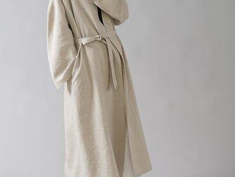 【wafu】中厚 リネンコート ロングコート ドロップショルダー ベルスリーブ h022b-amn2の画像