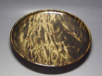 楓斑杢黒漆染めガラスコート仕上げ 盛器の画像