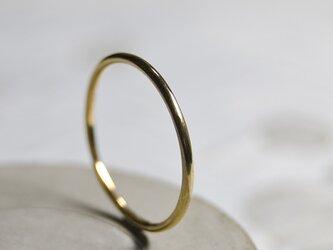 鏡面 K24GPゴールドプレーンリング 1.2mm幅 ミラー|K24GP RING bs|461の画像