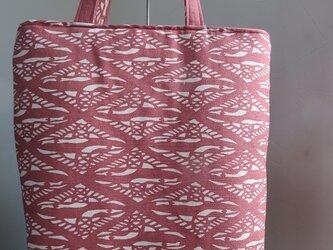 送料無料 南部型染めのトートバッグ。の画像