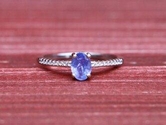 天然石*タンザナイト 指輪*17号 SVの画像