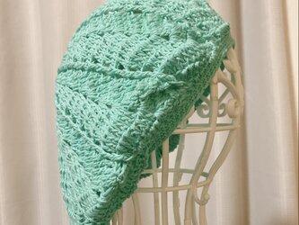 コットンベレー帽【ミントグリーン】の画像