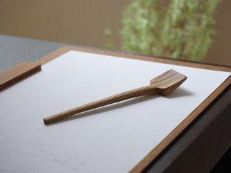 木のジャムスプーン(ゼブラウッド)No.1-66の画像