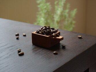 木のコーヒービーンスプーン(マホガニー)No.1-18の画像