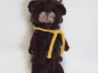もこもこベアの編みぐるみの画像