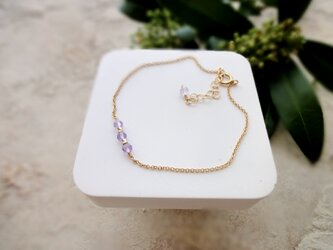 Fortune Ring Bracelet ■14kgf 天然石・誕生石■ アメジスト 薄い色 2月の画像