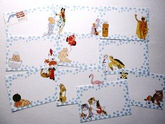 猫「水玉」ひとこと箋の画像