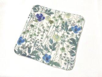 ガーゼタオルハンカチ 花摘み グリーンの画像