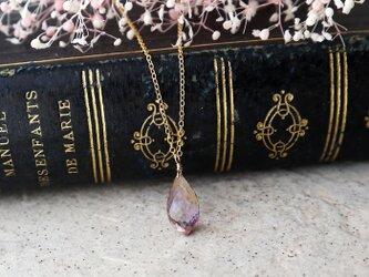 【14kgf】極上宝石質!大粒アメトリンの一粒ネックレス(ブリオレットカット)の画像