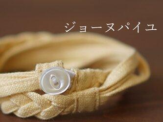【wafu】三編み ブレスレット 男女兼用 リネン100% アクセサリー/ジョーヌパイユ z025a-jpy2の画像
