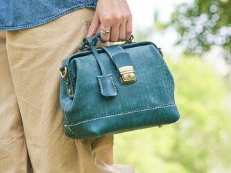 【切線派】大容量 がま口本革手作りのレザー 口枠 ショルダーバッグ 総手縫い手持ち 肩掛け 2WAY 鞄の画像