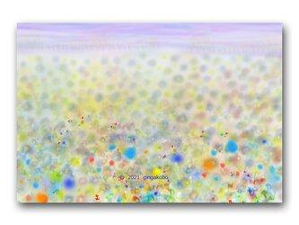 「百花団欒」花 蝶 ほっこり癒しのイラストポストカード2枚組 No.1337の画像