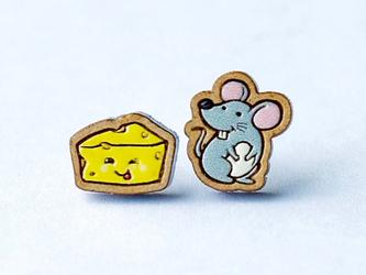 『田田製作所』手作り レディースイヤリング ネズミの画像
