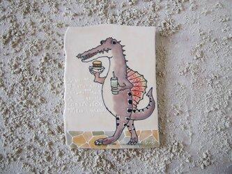 タイルの動物図鑑 スピノサウルスの画像