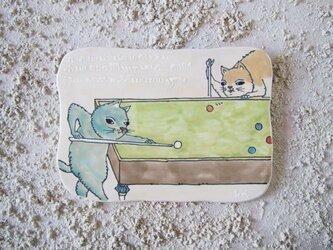 タイルの動物図鑑 ネコ ビリヤードの画像