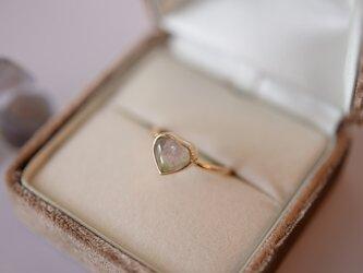 belle coloris ウォーターメロン トルマリンのリングの画像