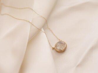 belle coloris ホワイトガーデンクオーツ ネックレスの画像