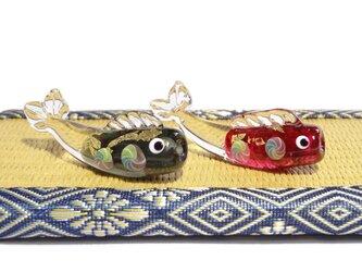 とんぼ玉鯉のぼり・ガラスの小さな鯉のぼり置き飾り1の画像