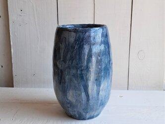 青墨ながし 花器の画像