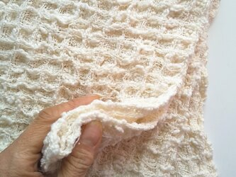 手織りタオル ふわっふわなワッフル織りタオル~コットン の画像
