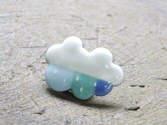 七宝焼ブローチ にわか雨(青)の画像