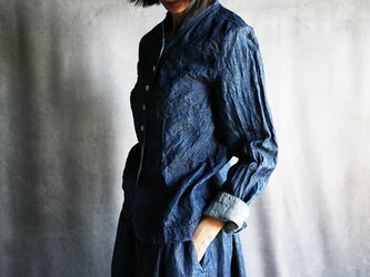 リネンデニムジャケットの画像