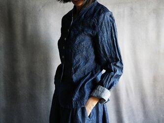 国産リネンデニムジャケットの画像