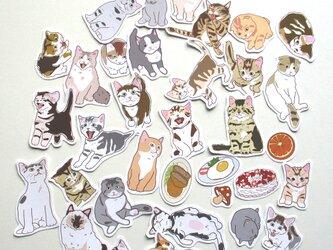 ちび猫「ちいさくありまテン」シール#3の画像