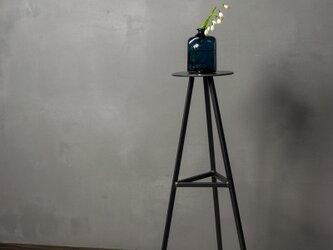 [アイアンのスリムテーブル Bタイプ] サイドテーブル 消毒液スタンド 花台 おしゃれ  玄関の画像