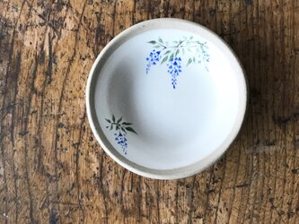 白化粧色絵豆皿 フジの画像