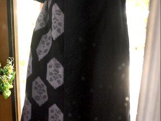 久留米絣バルーン袖ワンピースの画像