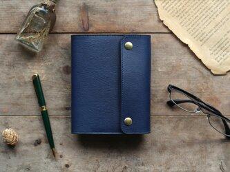 藍染革[shiboai] A6サイズノート手帳の画像