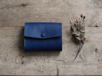 藍染革[migaki] コンパクトミニ財布の画像