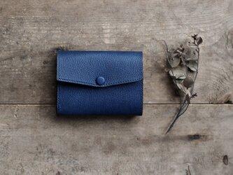 藍染革[shiboai] コンパクトミニ財布の画像