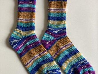 手編み靴下【grundl  ランナウェイ 01】の画像