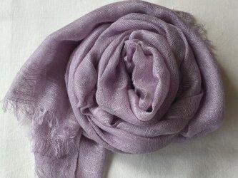 草木染め シルクストール 紫根 の画像