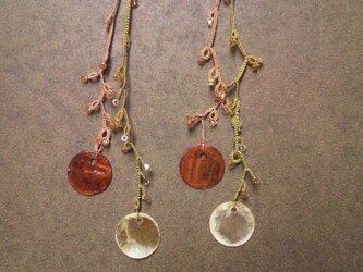 絹糸の枝のピアス  ver.2 orangeの画像