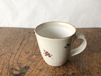 白化粧色絵 マグカップ 椿の画像