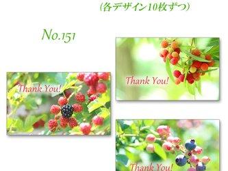 No.151 輝くフルーツのカード(ブラックベリー・ヤマモモ・ブルーベリー)#1  名刺サイズカード 30枚の画像